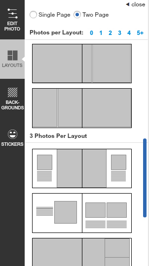 Page Layouts – Picaboo Customer Support